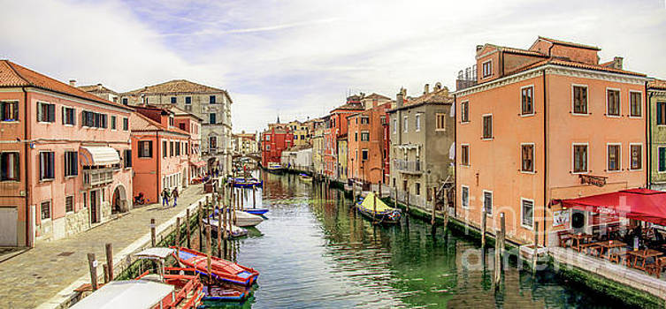View from the Vigo's Bridge in Chioggia Italy by Luca Lorenzelli