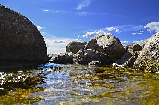 View from the water of Lake Tahoe by Alex King