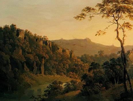 Wright Joseph - View In Matlock Dale Looking Towards Black Rock Escarpment