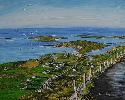View of Clifden bay from Sky Road Clifden Co Galway by Diana Shephard
