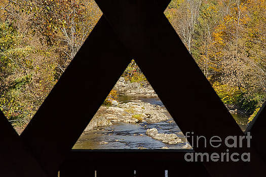 Bob Phillips - View of Dog River from Northfield Falls Covered Bridge