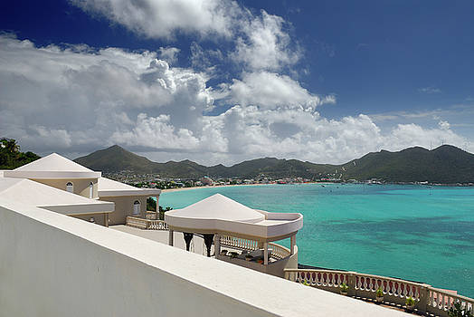 Reimar Gaertner - View of Great Bay and Philipsburg St Maarten from a luxury Villa