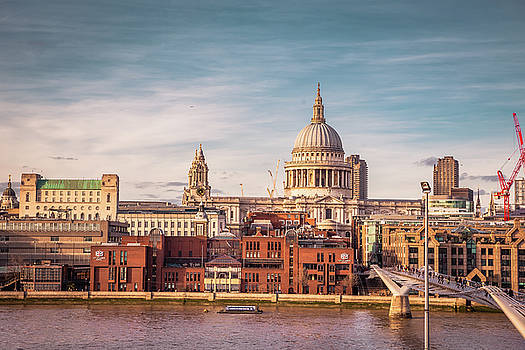 View of London skyline  from Tate Modern  by Marius Comanescu