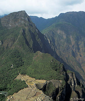 View of Machu Picchu from Huayna Picchu by Celtic Artist Angela Dawn MacKay