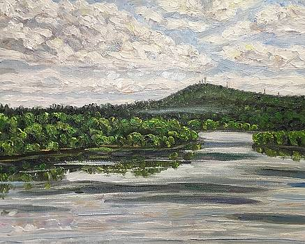 View of Mt. Tom with Connecticut River by Richard Nowak