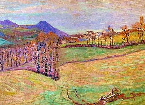 View Of Saint Sauves 1900 by Guillaumin Armand