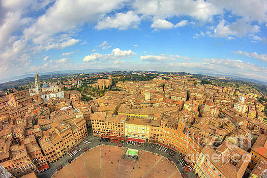 View of Siena from Torre del Mangia by Spencer Baugh
