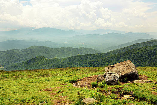 View of Smoky Mountains Near Roan Mountain by Carol Mellema