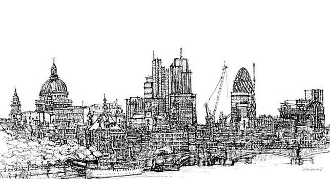 View of St Pauls and The City  by Adendorff Design