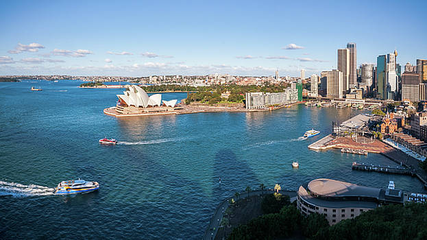View of Sydney Harbour from above by Daniela Constantinescu