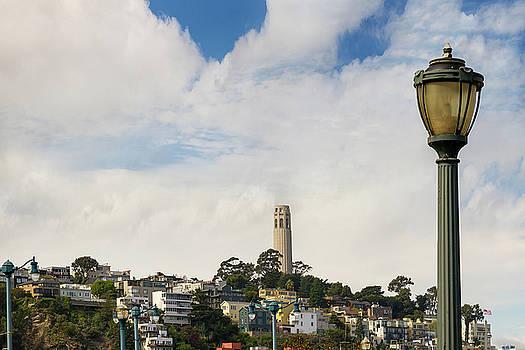 View of Telegraph Hill Neighborhood San Francisco by David Gn