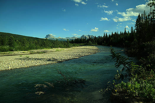 View of the Blood river Alberta Canada by Jeff Swan