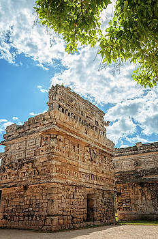 View of 'the Church' a Mayan ruin at Chichen Itza, Mexico by Daniela Constantinescu