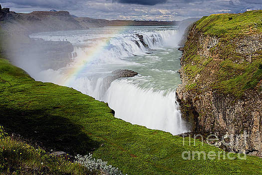 View of the Gulfoss Waterfall by George Oze