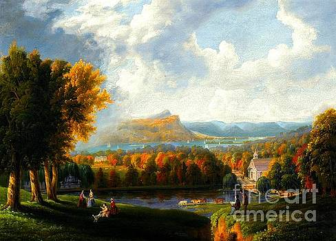 Peter Ogden - View of the Hudson River Near Tarrytown Westchester County New York circa 1866