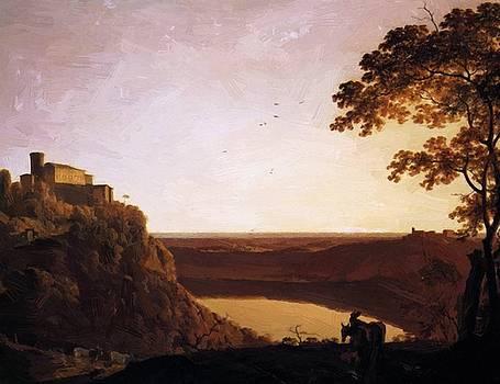 Wright Joseph - View Of The Lake Of Nemi 1795