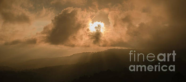 View of the Maleny mountains hinterlands. by Rob D