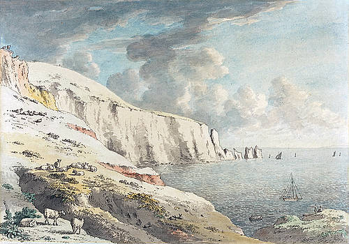 Anthony Devis - View of the Needles, and White Cliffs Taken from Allum Bay