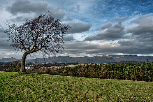 View of the Ochil Hills from Clackmannan Tower by Jeremy Lavender Photography