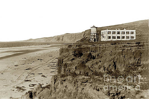 View of the original Scripps Building and water tower, Circa 1910 by California Views Mr Pat Hathaway Archives