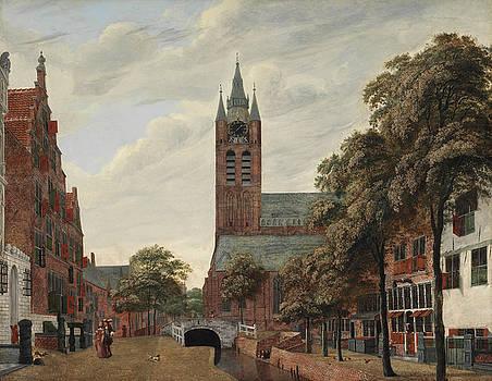 Jan Van der Heyden - View of the Oude Delft Canal