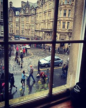 View of The Royal Mile in Edinburgh Scotland. by Jen Lynn Arnold