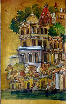 View Of Varanasi Ghats by Yogesh Agrawal