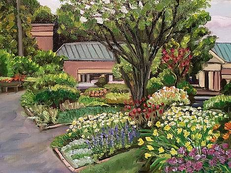 View of Westfield Academy from Grandmother's Garden by Richard Nowak