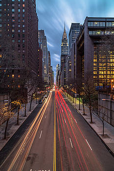 View on 42 street in manhattan during sunset by Andriy Stefanyshyn