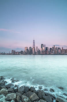 View on Downtown Manhattan during sunset New York Cityscape during sunset  by Andriy Stefanyshyn
