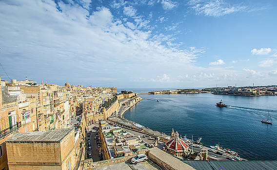 View on Valletta and Grand Harbour,Malta by Julian Popov