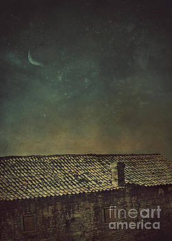 View over roof at night by Mythja Photography