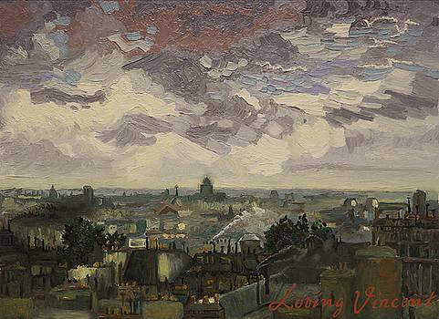 View over rooftops of Paris by Aleksandra Siudek