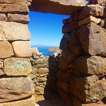 View Through Inca Ruins On The Island by Dante Harker