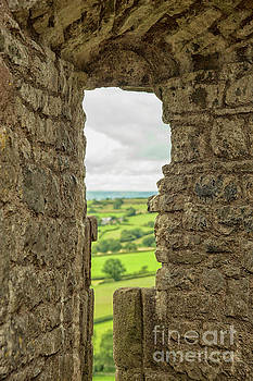 View through loophole in medieval castle by Patricia Hofmeester