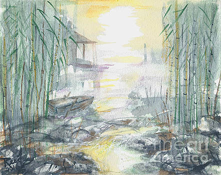 View Through the Bamboo by Reed Novotny
