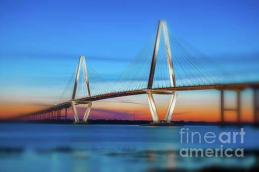 Dale Powell - Vignette Blur of the Cooper River Bridge