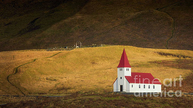 Vik Church in Sunlight by Jerry Fornarotto
