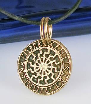 Viking Bronze Sun Wheel by Virginia Vivier