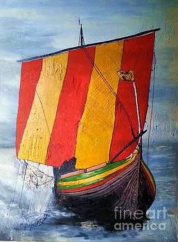 Vikingship by Susanne Baumann