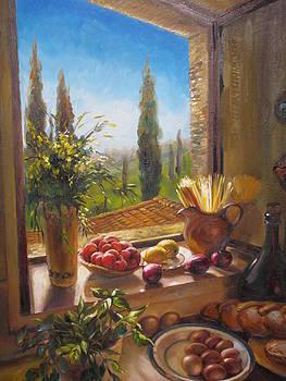 Villa in Tuscany by Ekaterina Pozdniakova