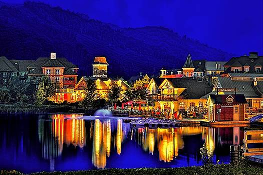 Village at Blue Hour by Jeff S PhotoArt