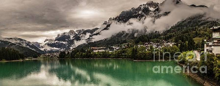 Village by the lake by Howard Ferrier