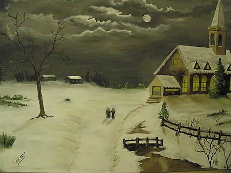Village Church by Ron Sargent