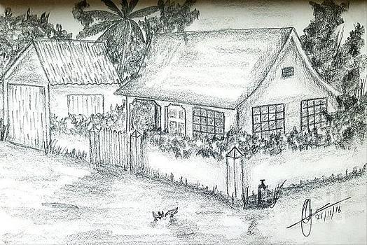 Village Home  by Collin A Clarke