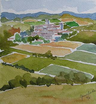 Village In Tuscany by Janet Butler