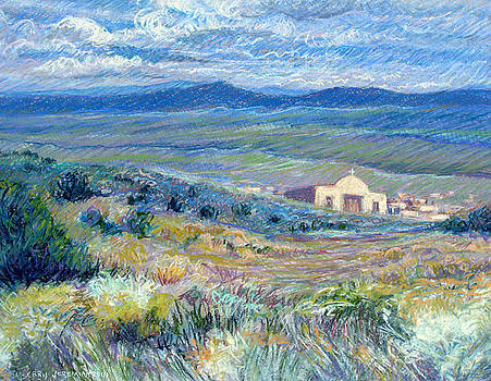 Village Mission Near Taos by Suzanne Berry