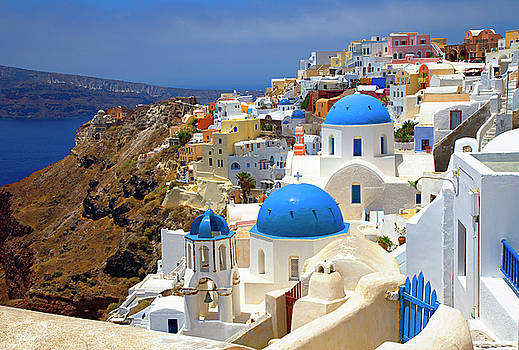 Village of Oia,Santorini by Jim Wallace