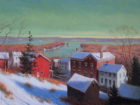 Village On The Hudson by Barry DeBaun