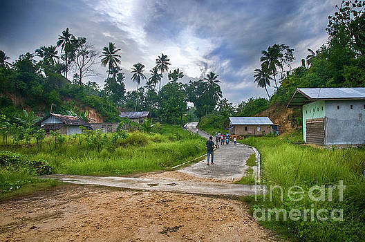 Village Scene by Charuhas Images